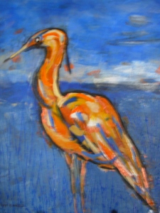 Heron (acrylic) - sold at the Painters & Potters Exhibit in summer of 2014